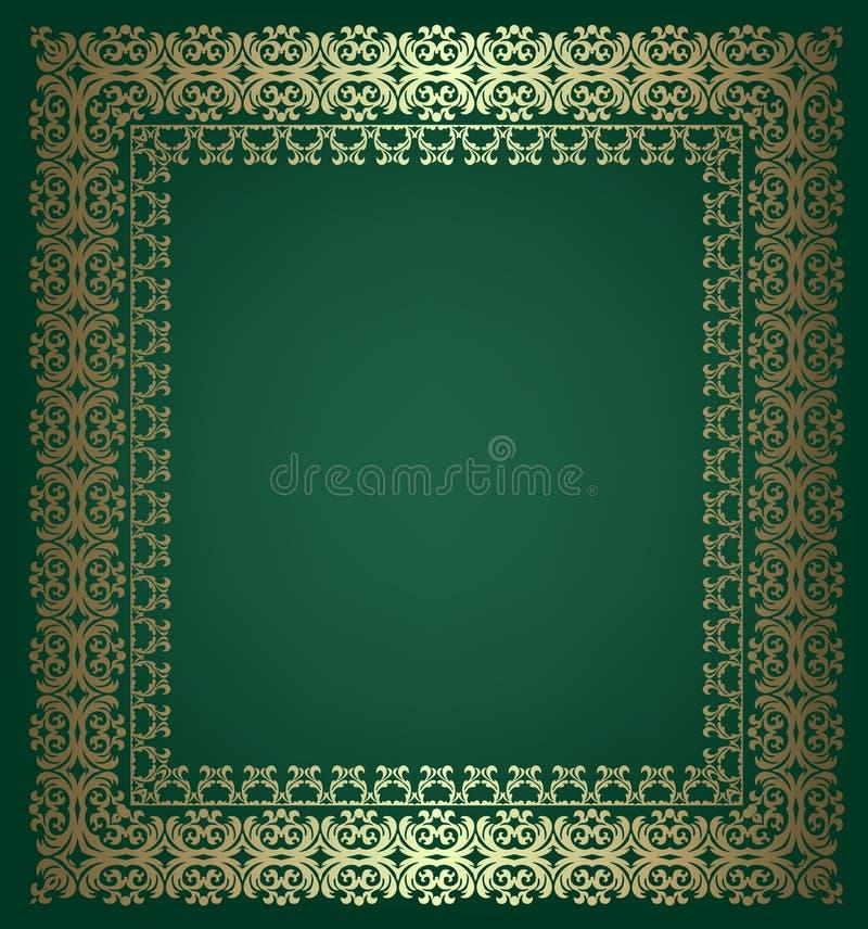 Gouden Uitstekend Frame royalty-vrije illustratie