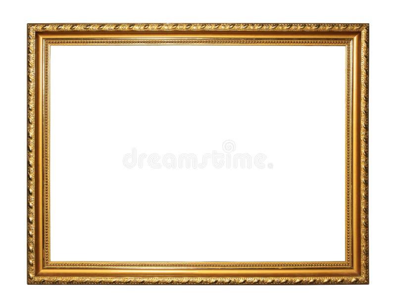 Gouden uitstekend kader royalty-vrije stock afbeelding