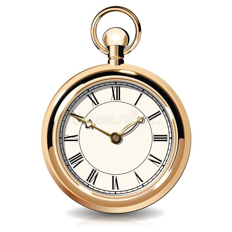 Gouden uitstekende horloges stock illustratie