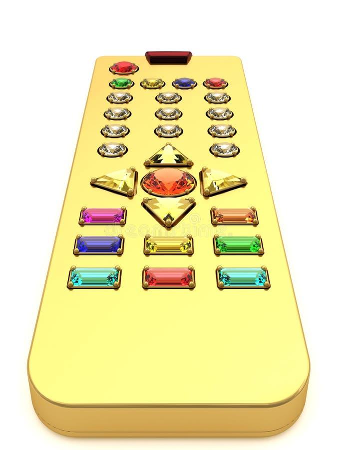 Gouden universele afstandsbediening stock illustratie
