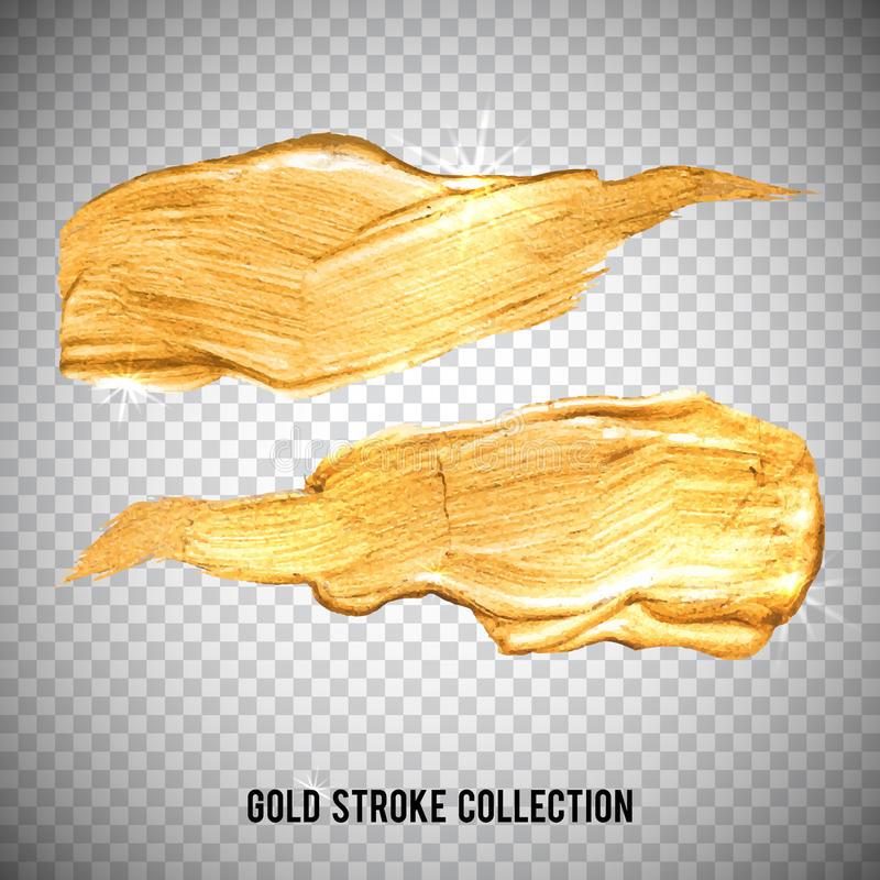 Gouden van de de verfvlek van de waterverftextuur abstracte de illustratiereeks Het glanzen borstelslag voor u verbazend ontwerpp vector illustratie