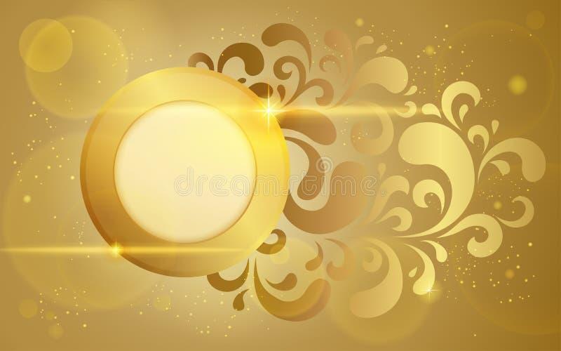 Gouden vectorachtergrond royalty-vrije illustratie