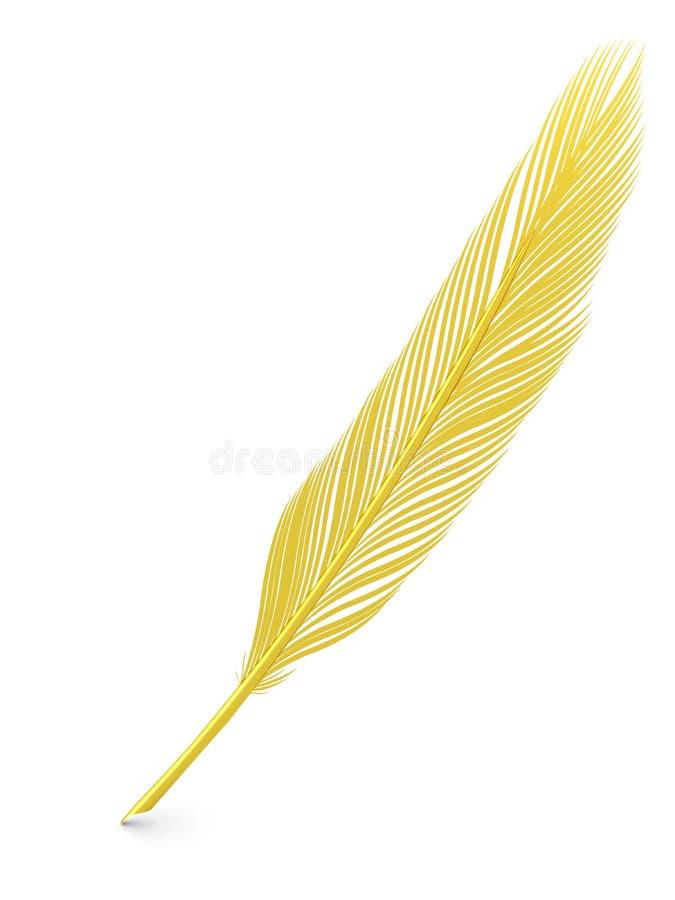 Gouden veerschacht stock afbeelding