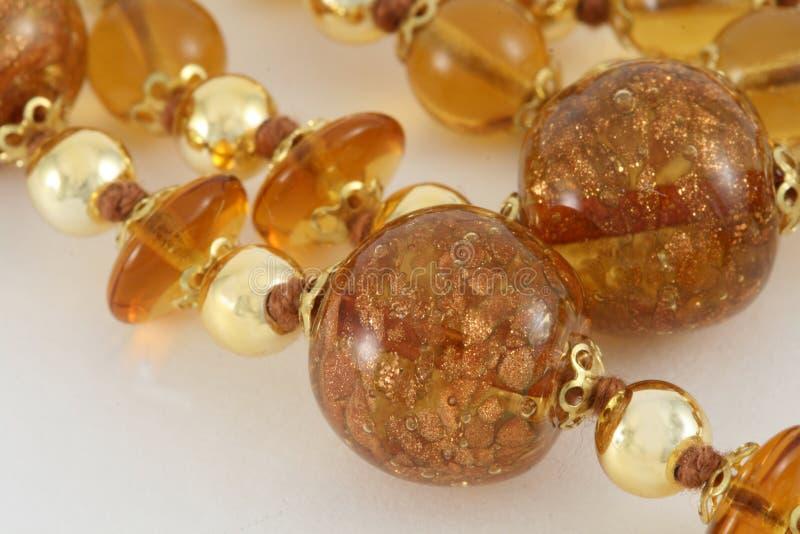 Gouden Venetiaanse Parel Jewelery DE royalty-vrije stock afbeeldingen