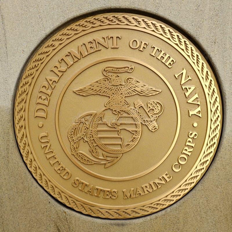 Gouden Verbinding voor Militair Strijdkrachten Openbaar Symbool royalty-vrije stock fotografie