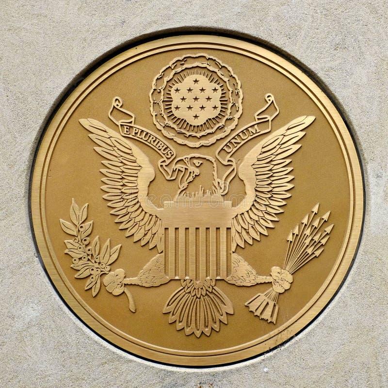 Gouden Verbinding voor Militair Strijdkrachten Openbaar Symbool stock fotografie