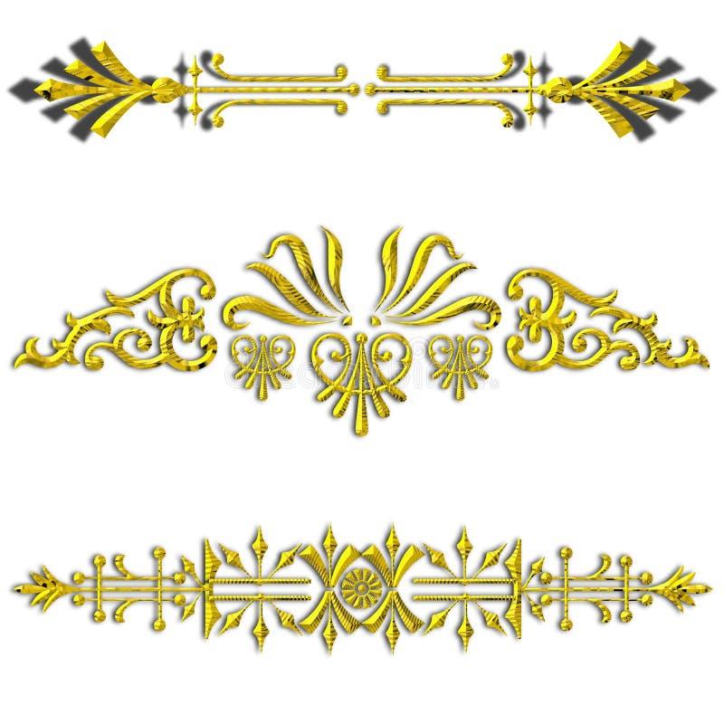 Gouden verdelers royalty-vrije illustratie