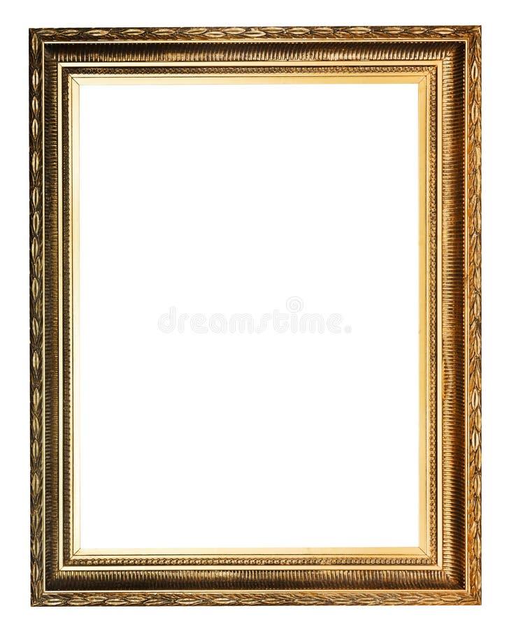 Gouden verfraaide oude omlijsting royalty-vrije stock foto's