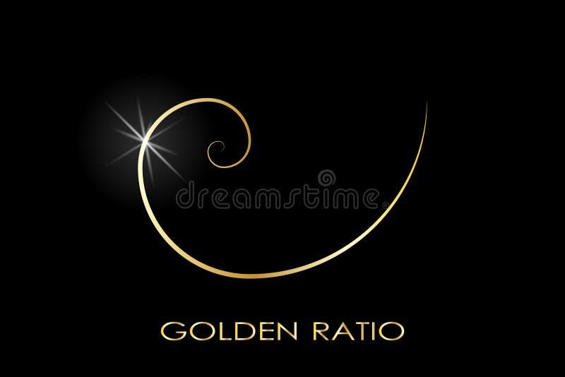 Gouden verhouding embleem vector illustratie