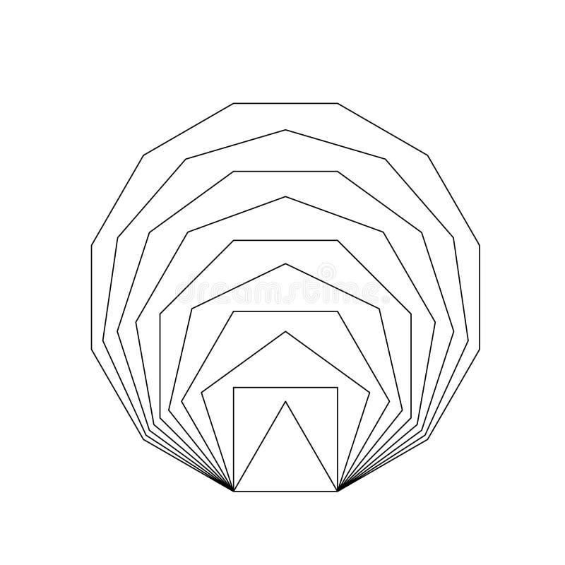 Gouden verhouding Geometrische vormen vector illustratie
