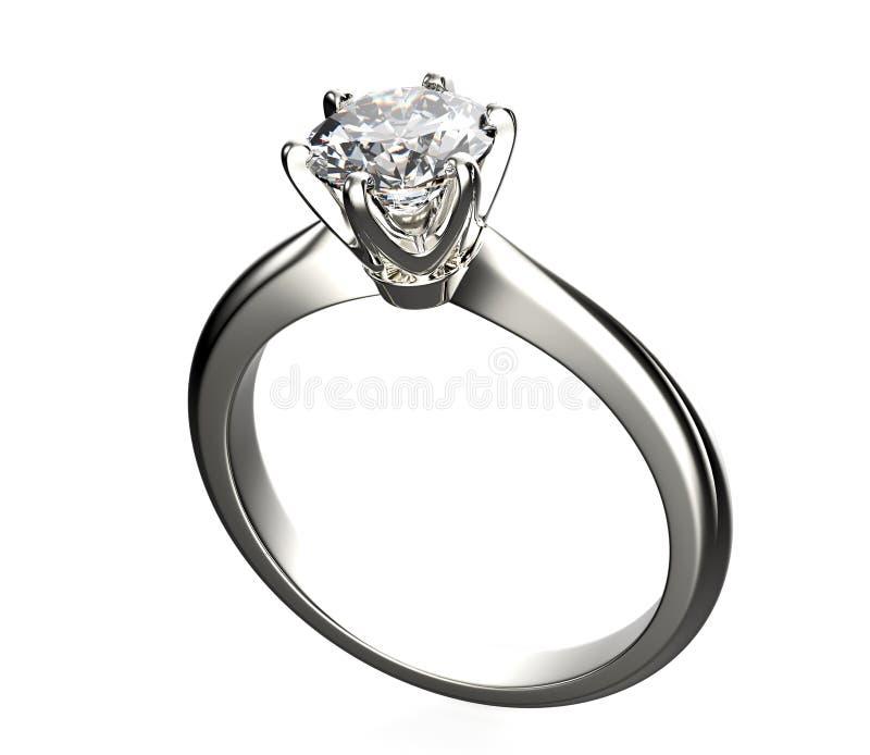 Gouden Verlovingsring met Diamant stock fotografie