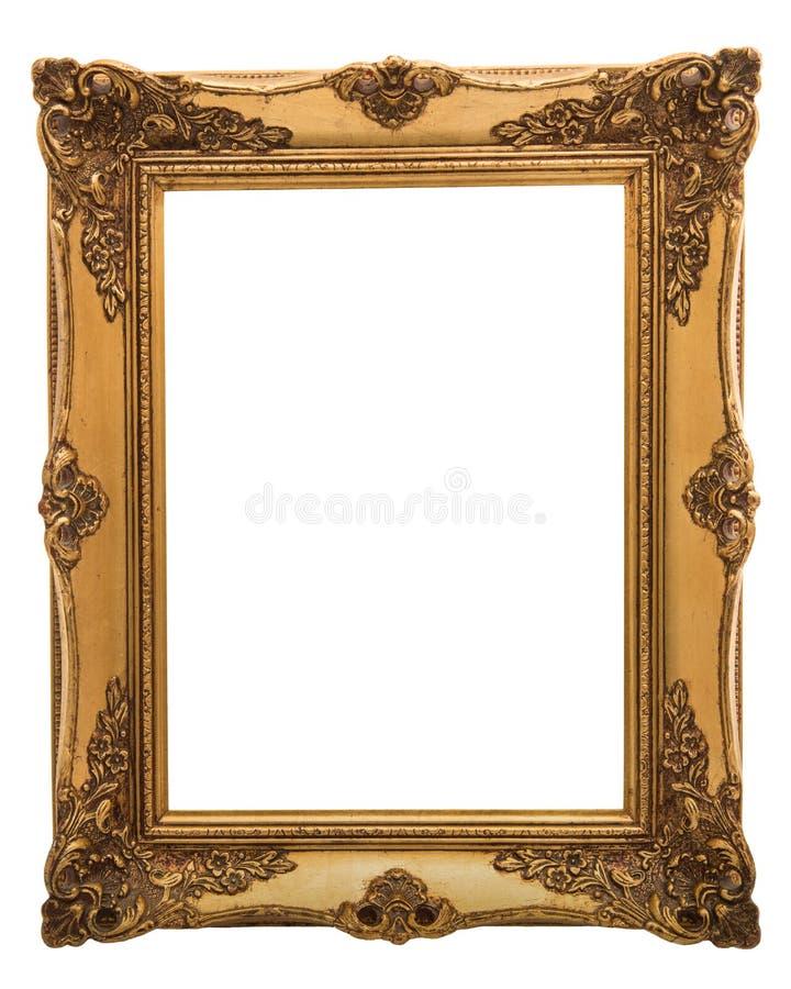 Gouden victorian illustratie frame stock fotografie