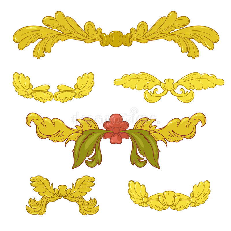 Gouden vignet royalty-vrije illustratie