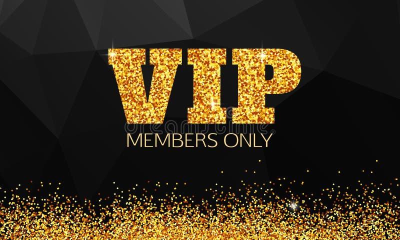Gouden VIP achtergrond VIP club Slechts leden VIP vector illustratie