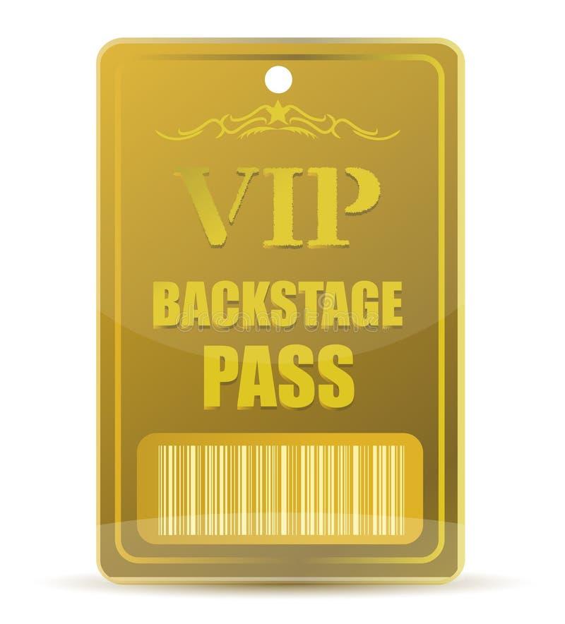 Gouden VIP coulissepas royalty-vrije illustratie