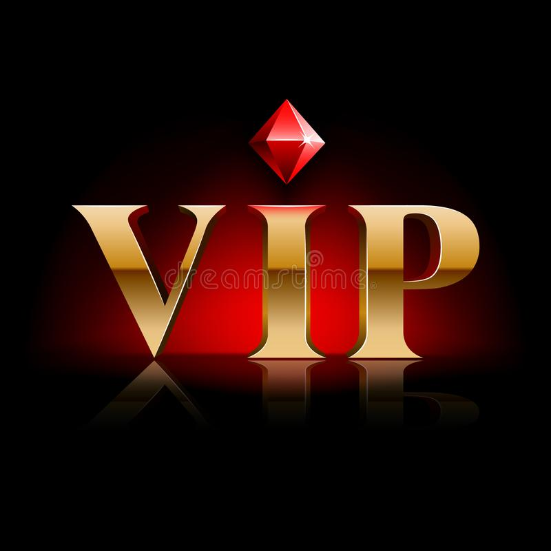 Gouden VIP Diamond Banner stock illustratie