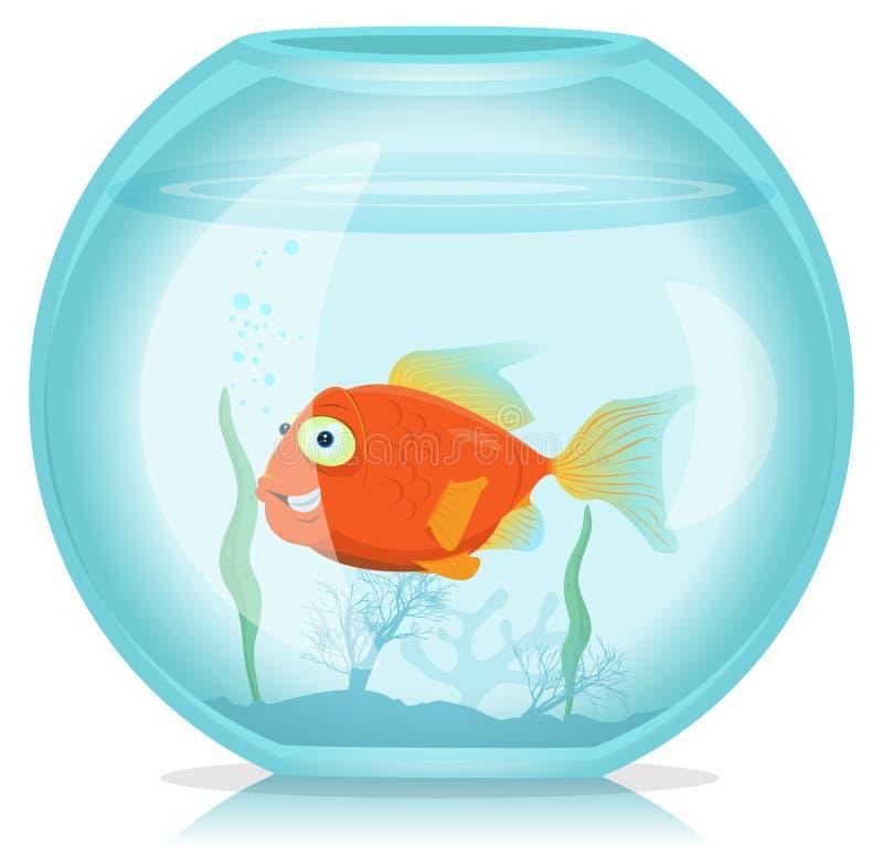 Gouden Vissen in Aquarium royalty-vrije illustratie