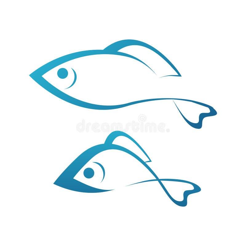 Gouden Vissen en Grayling royalty-vrije illustratie