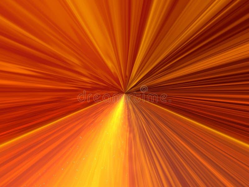 Gouden vlieg stock illustratie