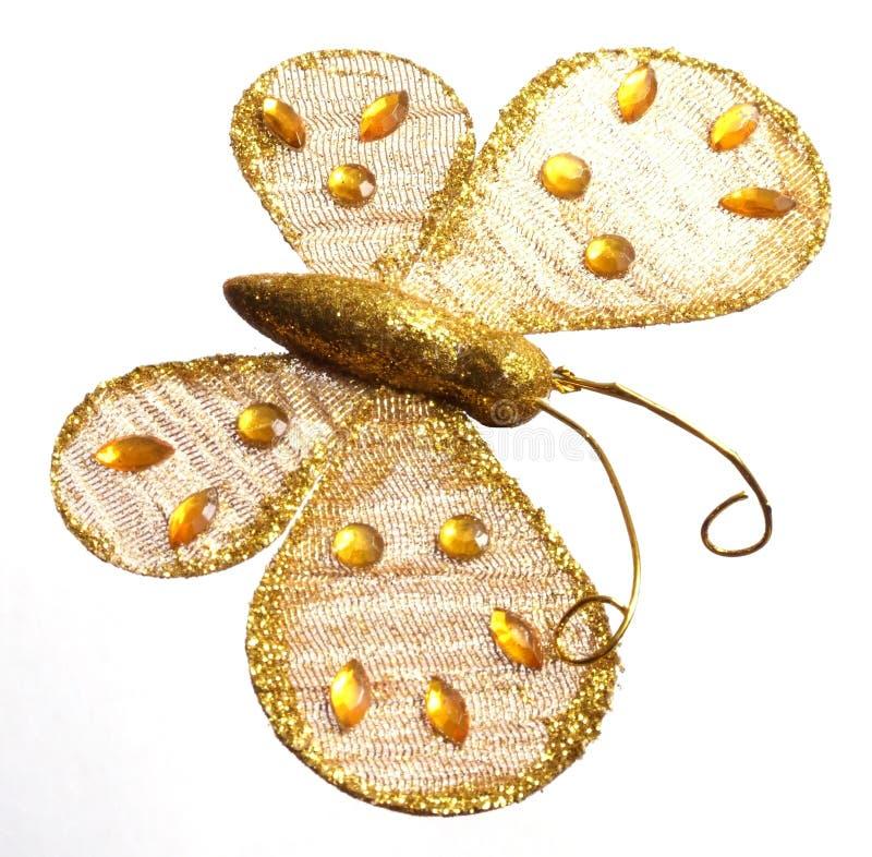 Gouden vlinder stock foto's