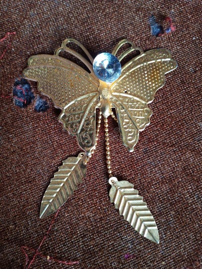 Gouden Vlinder royalty-vrije stock afbeeldingen