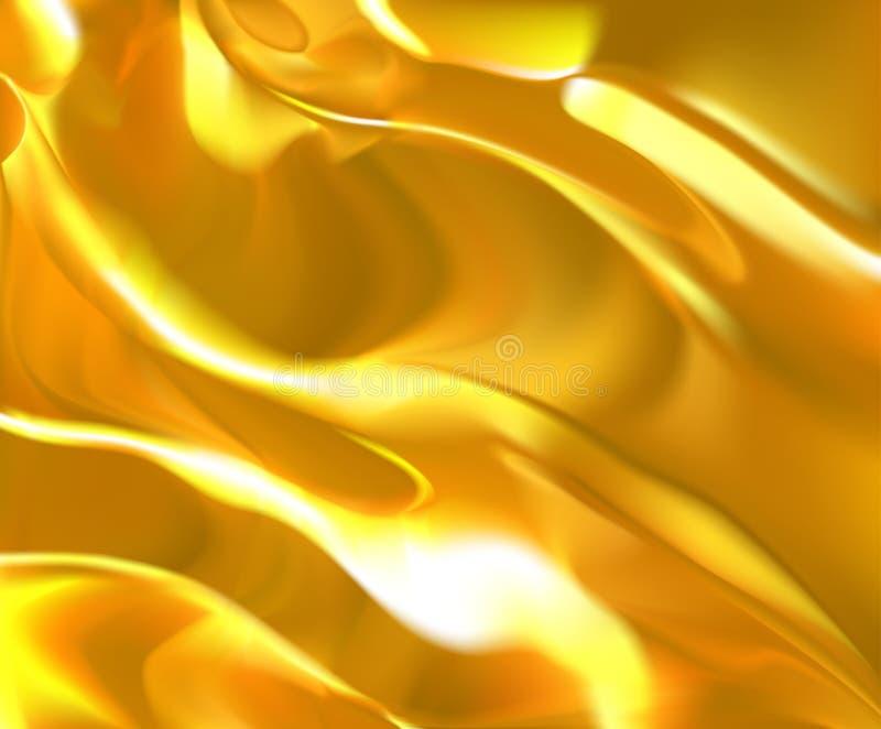 Gouden vloeibare textuur stock illustratie