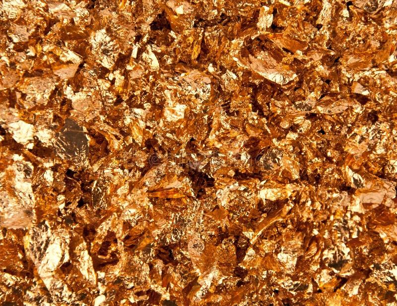 Gouden vlokken royalty-vrije stock afbeelding