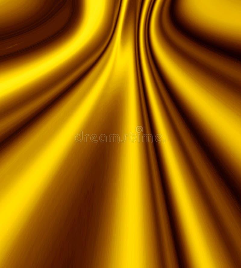 Gouden Vlot Satijn stock illustratie