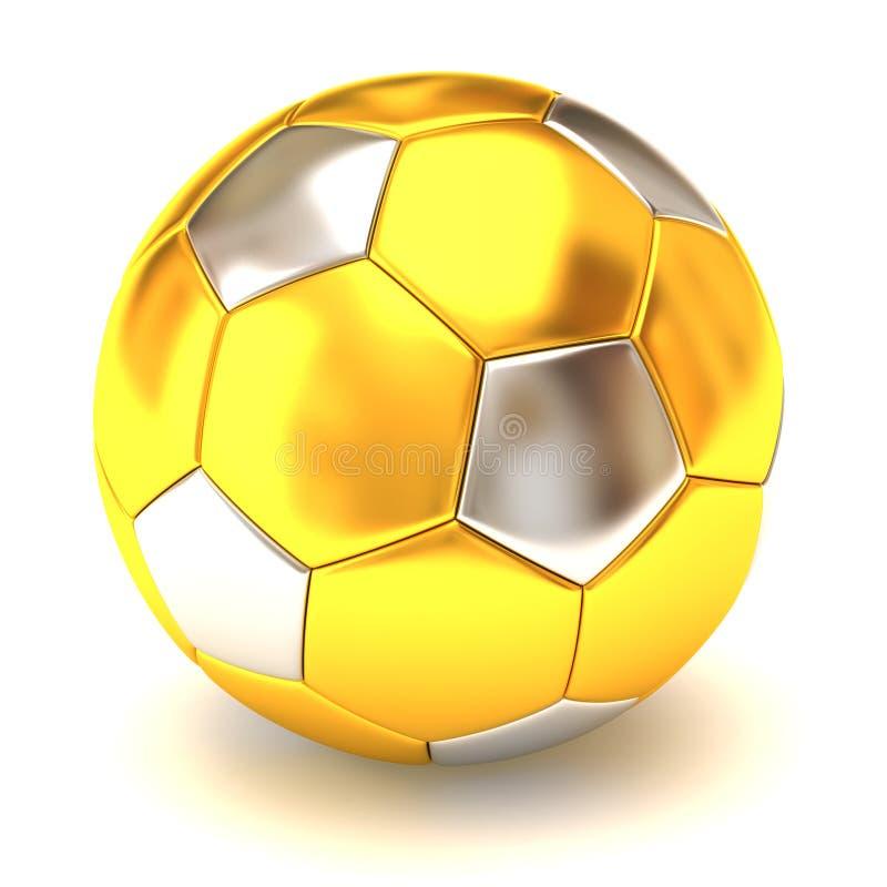 gouden voetbalbal royalty-vrije illustratie