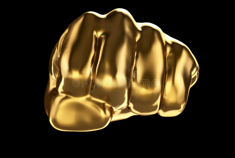 Gouden vuist vector illustratie