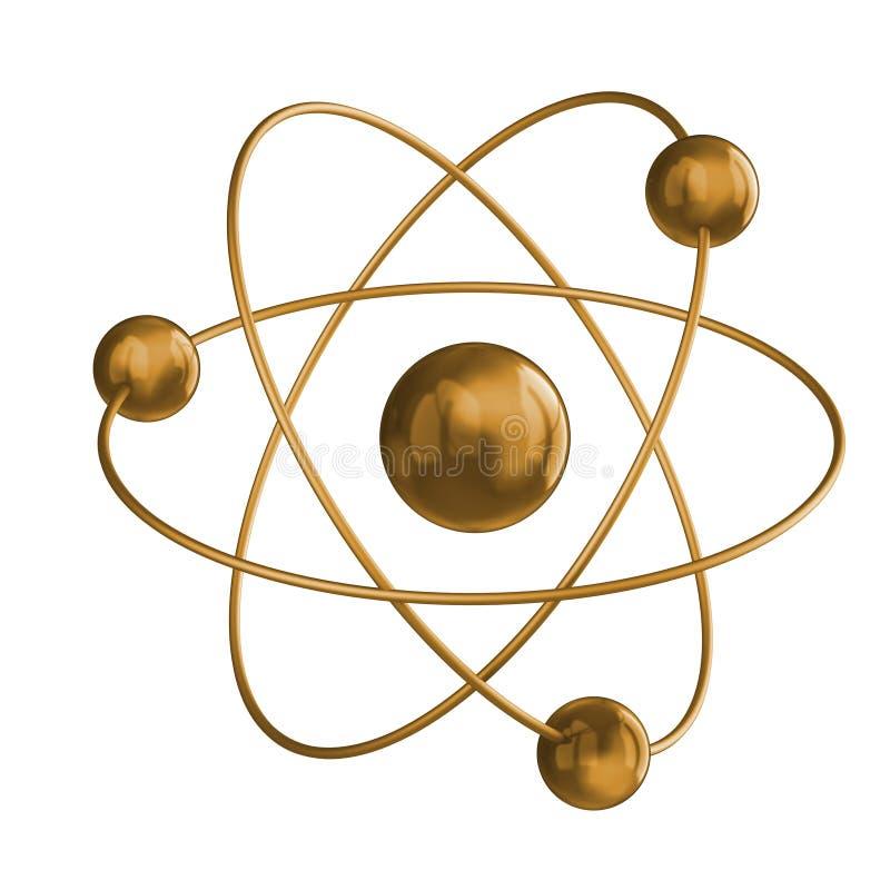 Gouden wetenschap stock illustratie
