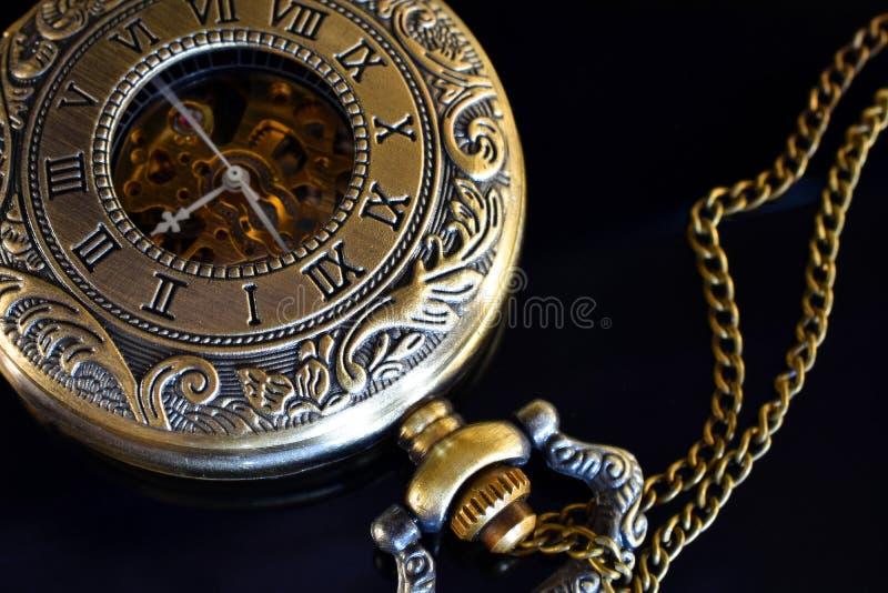 Gouden zakhorloge royalty-vrije stock afbeeldingen
