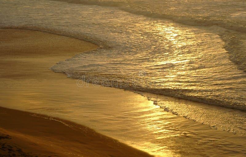 Gouden zand stock foto