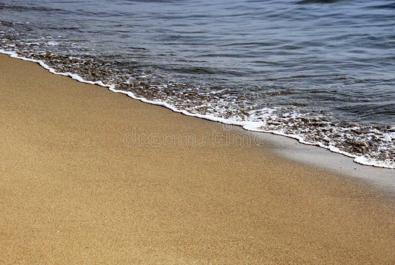 Gouden zand en overzees schuim stock foto