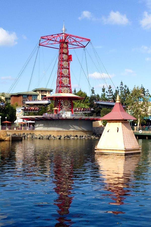 Gouden Zefierrit bij het Avonturenpark van Californië van Disney royalty-vrije stock foto