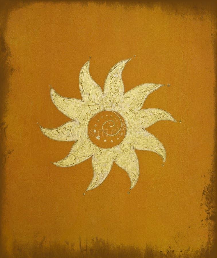 Gouden zon royalty-vrije illustratie