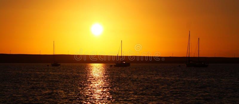 Gouden zonsondergang stock afbeeldingen