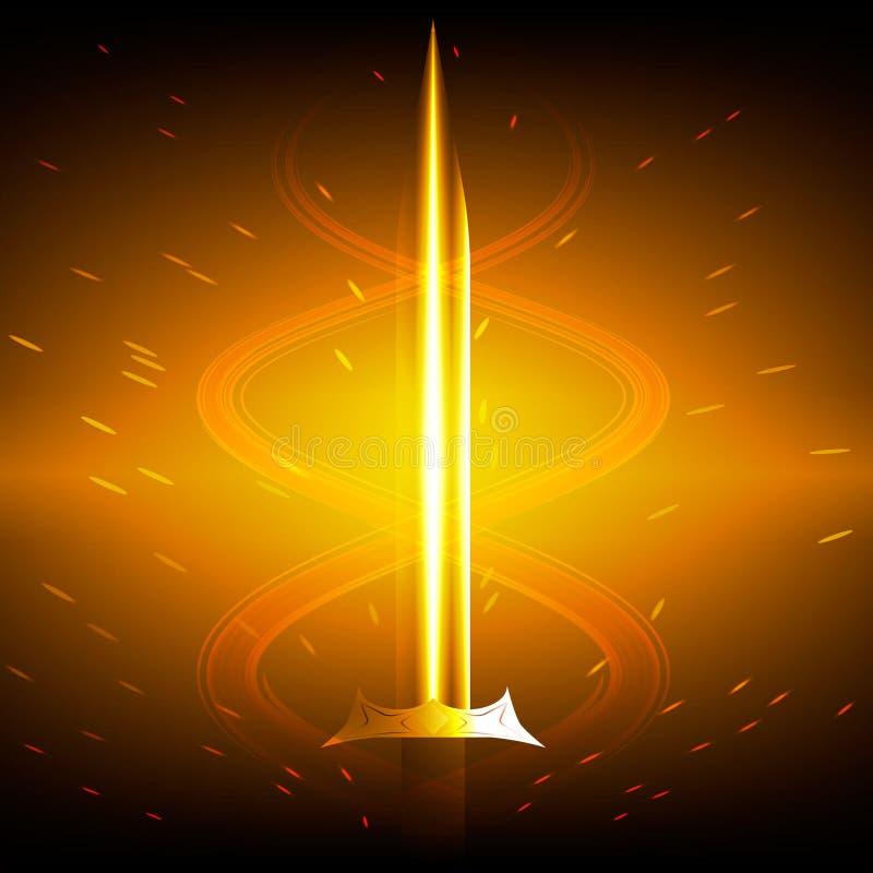 Gouden Zwaard stock afbeelding