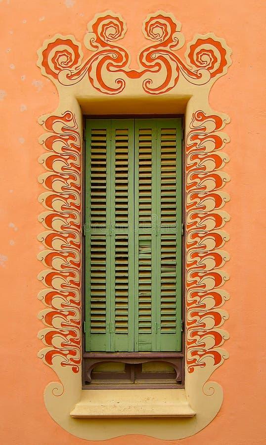 Goudi spornte Fensterfeld an stockfoto
