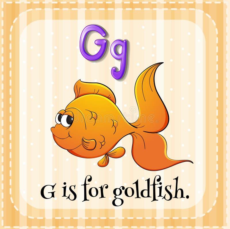 Goudvis stock illustratie