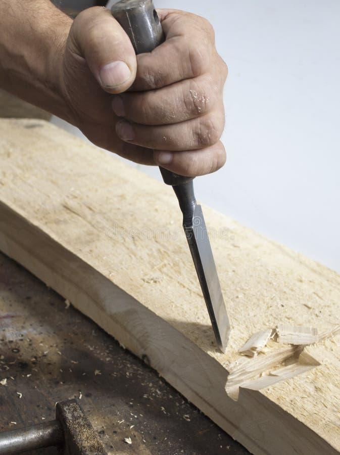 Gouge en bois photo libre de droits