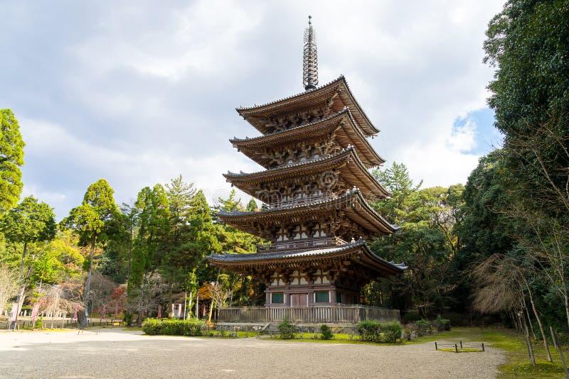 Goujonoto pagod på den Daigo-ji templet i Kyoto arkivfoton