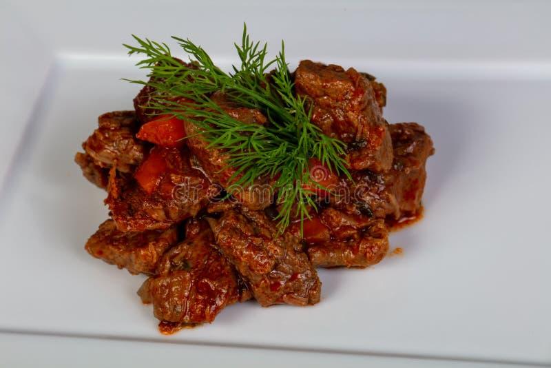 Goulash βόειου κρέατος με την ντομάτα στοκ εικόνα με δικαίωμα ελεύθερης χρήσης