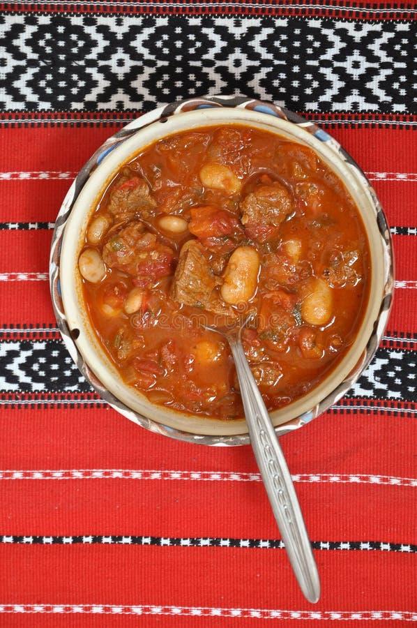 goulash βόειου κρέατος φασολ&i στοκ εικόνες
