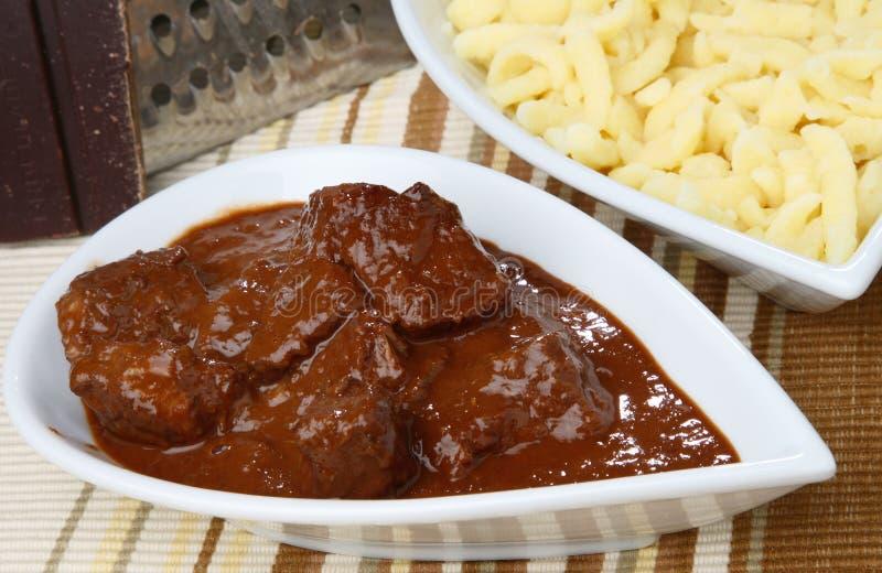 goulash κρέας πικάντικο στοκ εικόνες