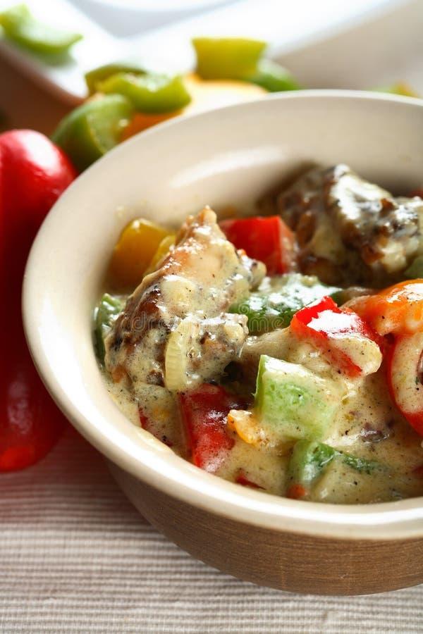 goulash ουγγρικά κοτόπουλου στοκ εικόνα με δικαίωμα ελεύθερης χρήσης