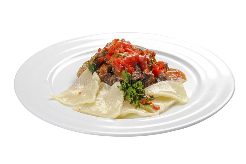 goulash Ουγγρικό παραδοσιακό πιάτο στοκ εικόνες