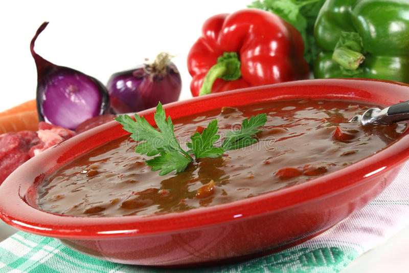goulash σούπα στοκ εικόνα με δικαίωμα ελεύθερης χρήσης