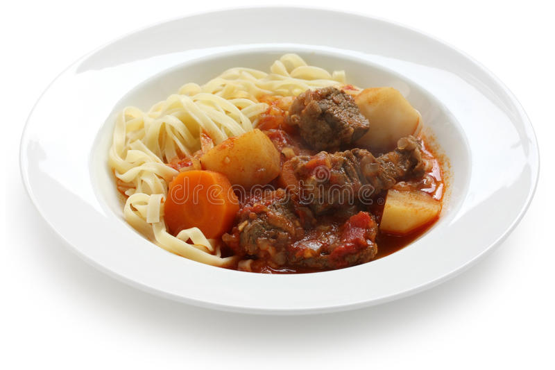 Goulash da massa imagem de stock royalty free