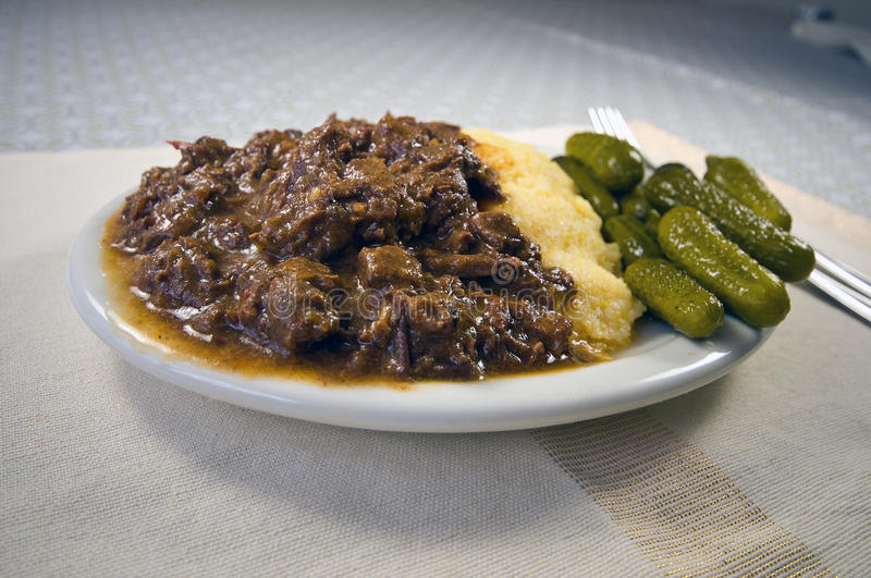 Download Goulash and Polenta stock photo. Image of gravy, food - 18598736